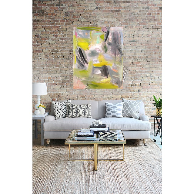"""Trixie Pitts """"Happy Valley"""" Abstract Painting - Image 4 of 4"""