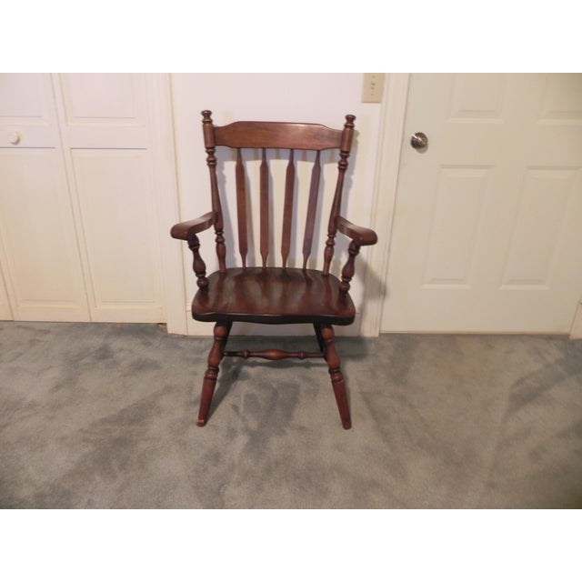 Ethan Allen Windsor Arm Chair - Image 2 of 4