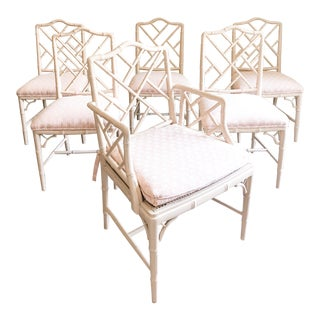 Chinese Chippendale Chairs - Set of 6 For Sale