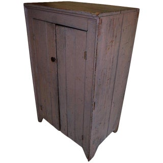 Early 1800s Cupboard for Parlor, Kitchen, Pantry With Lockbox Inside For Sale