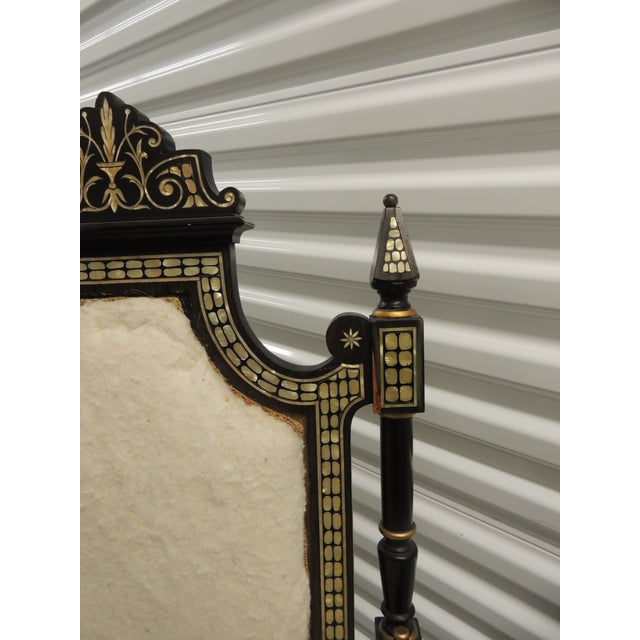 1950s Vintage Moroccan Mother-Of-Pearl Inlaid Frame and Ebonized Wood For Sale - Image 5 of 12