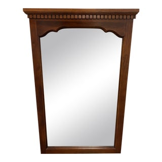 Late 20th Century Traditional Wood Wall Mirror For Sale