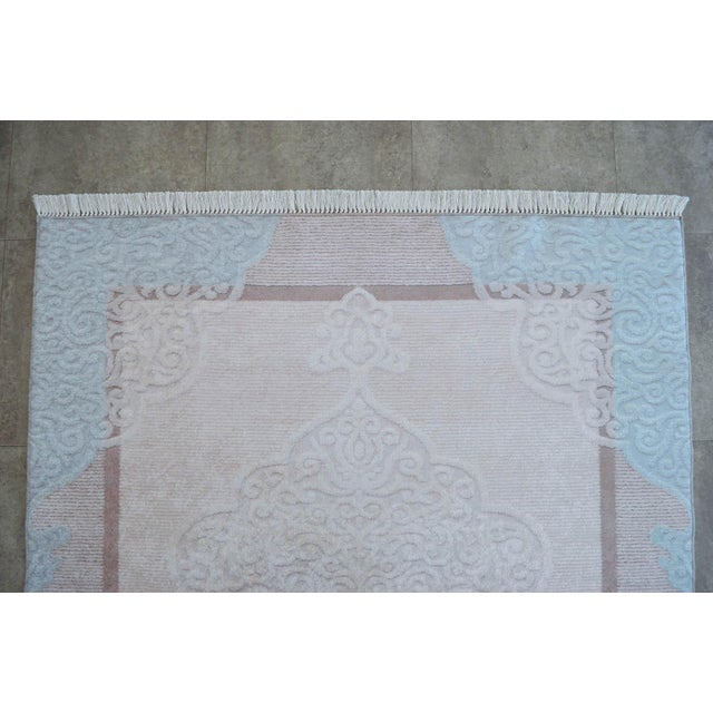 Traditional Oushak Pattern Inspired Area Rug - 5′1″ X 7′7″ For Sale - Image 6 of 11