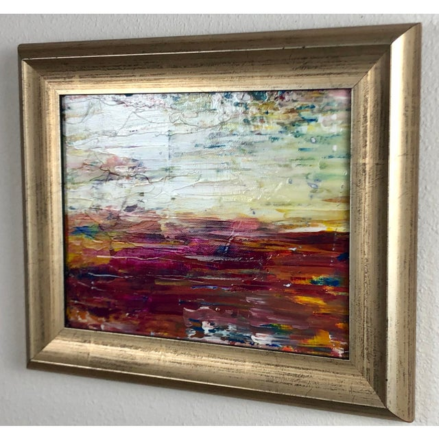 """This is an atmosphere landscape/seascape painting the artist made to evoke a visually calm statement. The title is """"Warm..."""