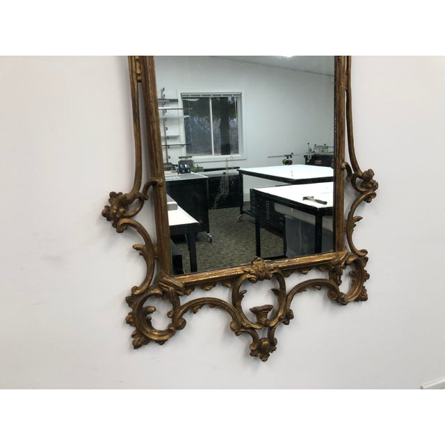 18th Century English Chippendale Chinoiserie Style Wall Mirror For Sale In Minneapolis - Image 6 of 13