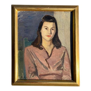 Scandinavian Modernist Portrait Mid-20th Century For Sale