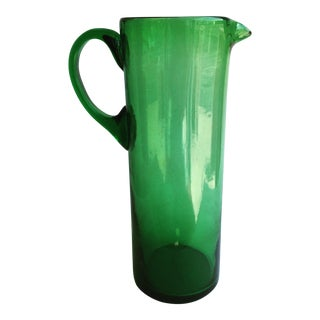 Martini Green Glass Pitcher For Sale
