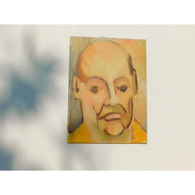 Monsieur Vintage Oil Portrait Painting For Sale In San Francisco - Image 6 of 6