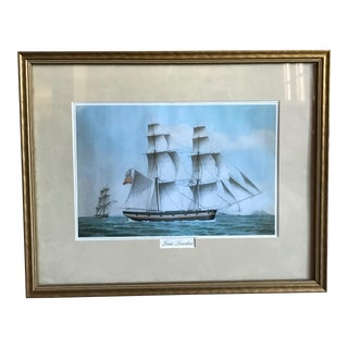 Jane Lowden: Boat at Sea Painting