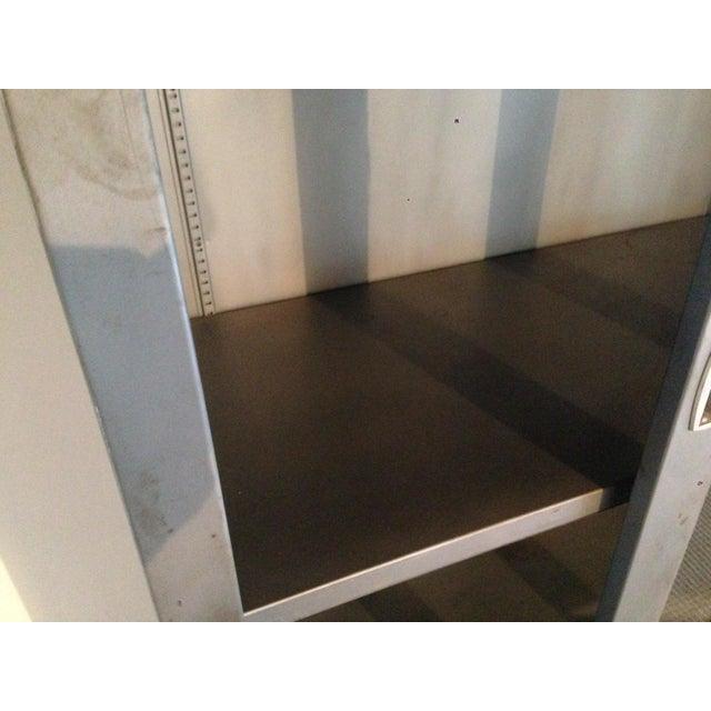 Vintage Industrial Metal Display Cabinet For Sale - Image 4 of 12