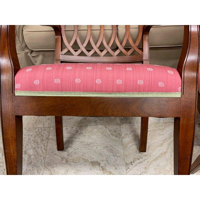 1990s Vintage Baker Williamsburg Collection Armchairs - A Pair For Sale - Image 10 of 12
