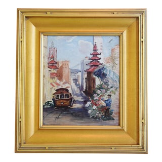 Stunning San Francisco Cityscape Oil Painting by Beulah H. Kosty For Sale
