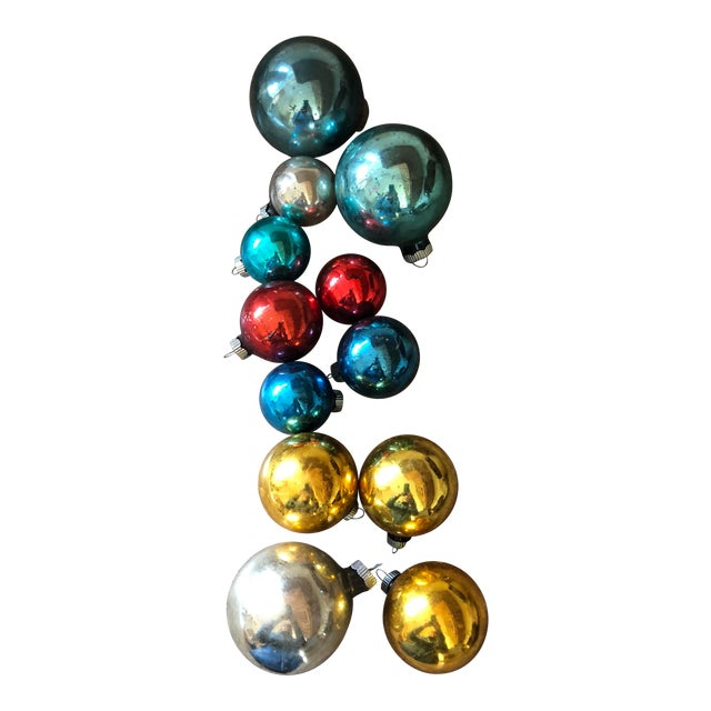 Christmas Ornament Tops.Final Price Vintage Shiny Brite Christmas Ornament Set Of 12