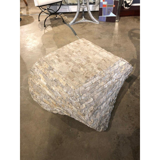 Contemporary Modern Marble Accent Table For Sale - Image 3 of 5
