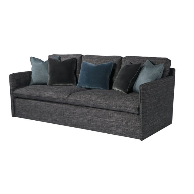 2010s Contemporary Charcoal Gray Sofa For Sale - Image 5 of 5