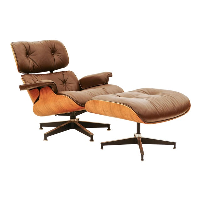 Vintage Rosewood Eams Chair and Ottoman for Herman Miller For Sale