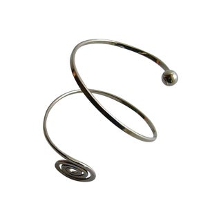 Norwegian Modernist Sterling Arm Bracelet by Anna Grete Eker For Sale