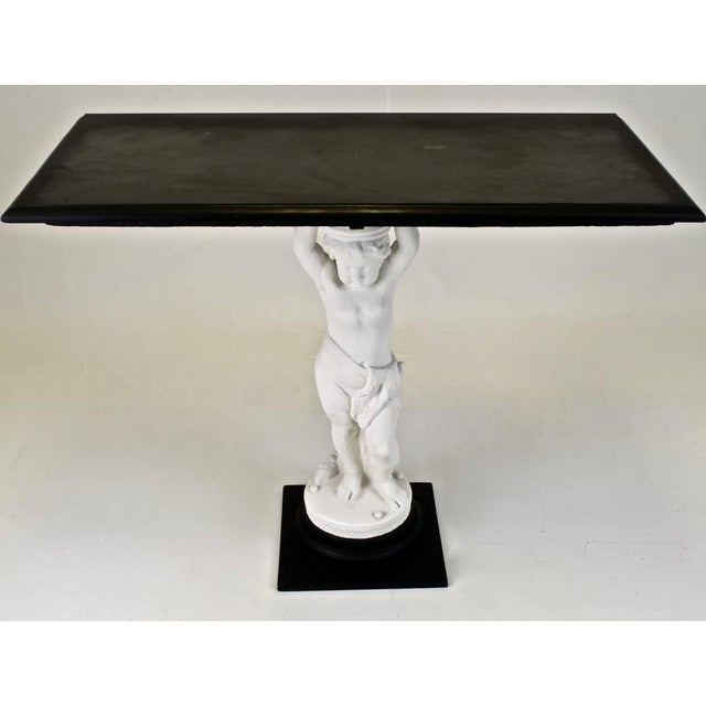 Metal Garden Statue Console Table For Sale - Image 7 of 7