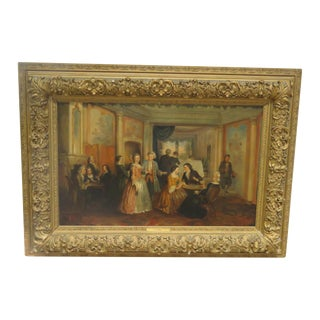 "Antique ""The Bethroval"" Signed Painting For Sale"