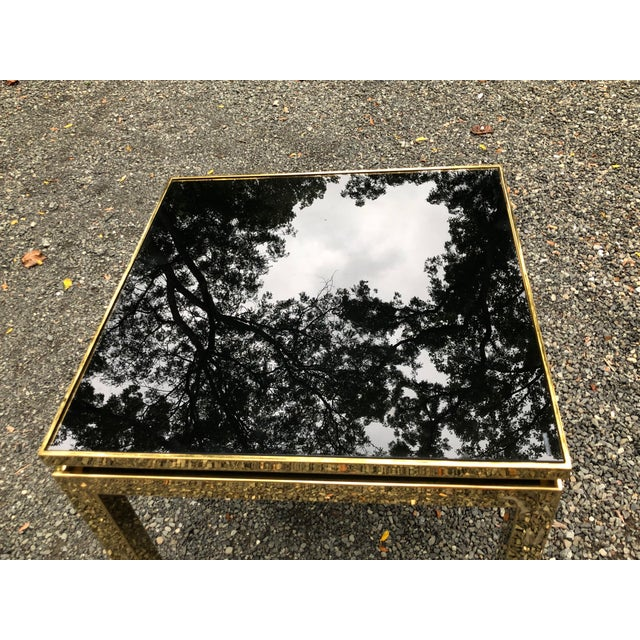 1970s 1970s French Maison Jansen Brass Occasional Table For Sale - Image 5 of 12