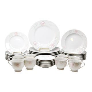 """Vintage """"Rose Blush"""" Dinnerware by Home Beautiful - Set of 47 For Sale"""