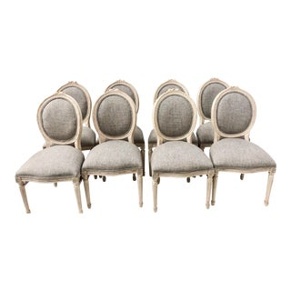 Set of 8 French Style Dining Chairs- 2 Sets Available For Sale