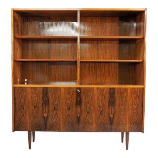 Original Danish Mid Century Hundevad Rosewood Bookcase