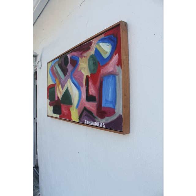 1986 Vintage Expressionist Painting For Sale - Image 4 of 10