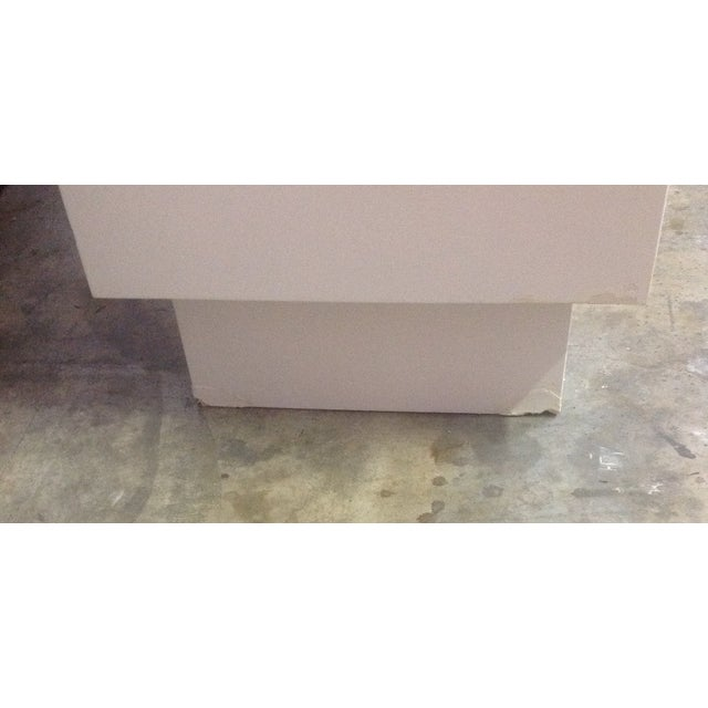 White Chippendale Style Mirrored Credenza - Image 10 of 11