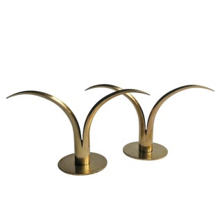 Mid-Century Ystad Candle Holders - A Pair For Sale