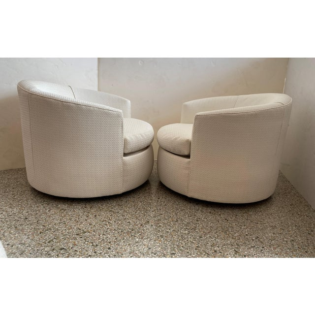 Vintage Swivel Club Chairs - a Pair For Sale In West Palm - Image 6 of 12