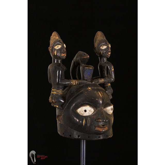 Yoruba African Tribal Helmet Mask - Image 9 of 10