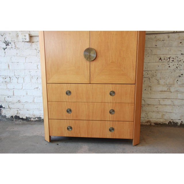 Mahogany Charles Pfister for Baker Primavera Wardrobe Dresser For Sale - Image 7 of 13