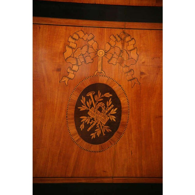 Mid 19th Century Dutch Neoclassic Sycamore, Ebonized Marquetry Credenza For Sale - Image 5 of 9