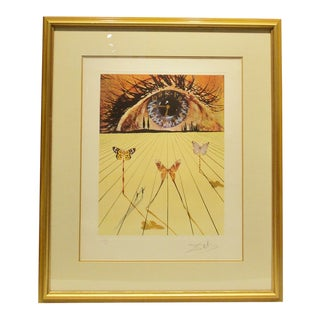 """""""Eye of Surrealist Time"""" Etching and Photolithograph Signed 124/175 Salvador Dali For Sale"""
