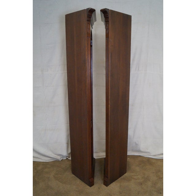 Ethan Allen Georgian Court Solid Cherry Narrow Corner Cabinets - a Pair - Image 8 of 10