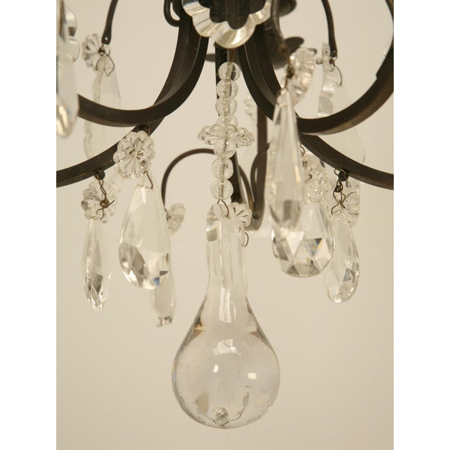 French Vintage Five-Light Bronze Chandelier For Sale In Chicago - Image 6 of 10