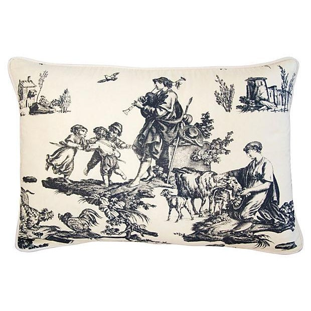 French Countryside Toile Pillows - A Pair - Image 5 of 7