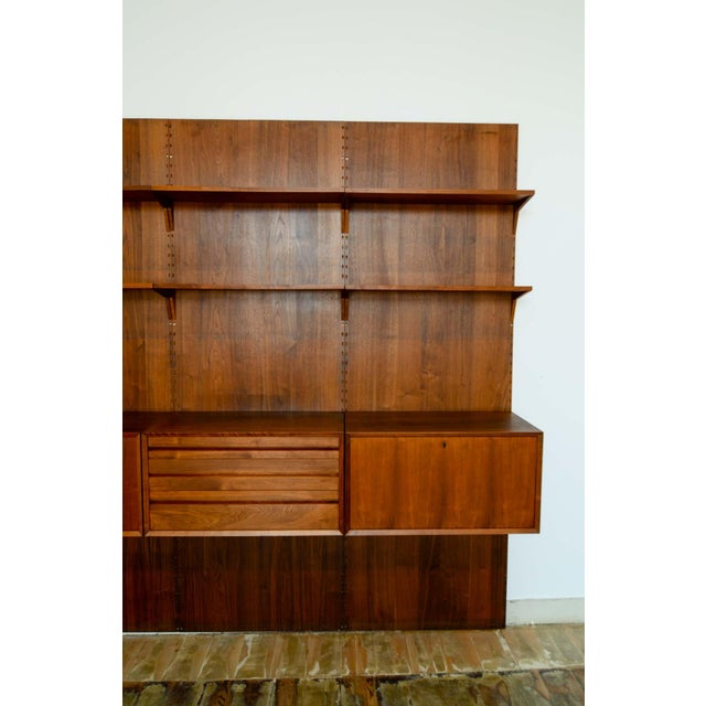 Poul Cadovius Large Mid-Century Design Teakwood Cadovius Wall Unit, Denmark, 1960s For Sale - Image 4 of 11