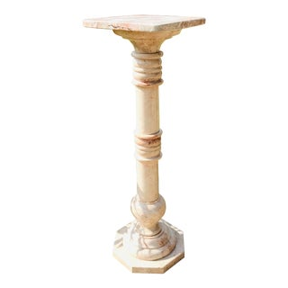 19th Century Italian Pink Marble Pedestal For Sale