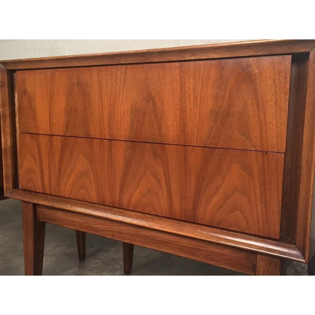 Thomasville Mid-Century Danish Modern Nightstands - a Pair - Image 3 of 7