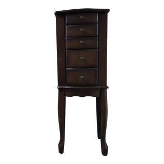 Mid 20th Century Jewelry Armoire For Sale