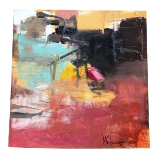 """Contemporary Abstract Original Painting Signed """"Love Notes"""" For Sale"""