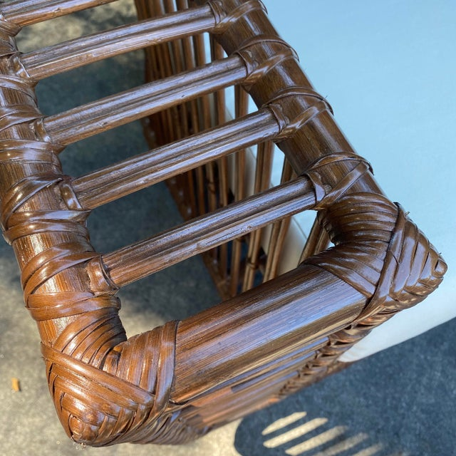 Henry Olko Style Rattan Club Chair For Sale - Image 9 of 10