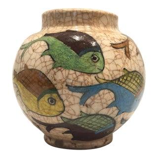 Antique Ceramic Qajar Jar For Sale