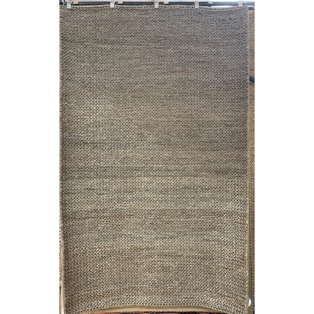 Hand Woven Jute Rug-5' X 8' For Sale - Image 10 of 10