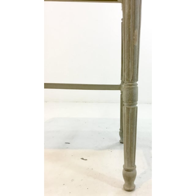 2010s Currey & Co. French Country Style Lysanne Gray Wood End Table For Sale - Image 5 of 7