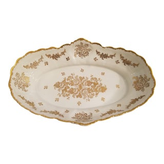 Haviland Limoges Style Hand Painted French Console or Fruit Bowl For Sale