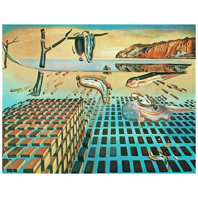 "Printmaking Materials 1957 Salvador Dali ""The Disintegration of the Persistence of Memory"", Original Period Photogravure For Sale - Image 7 of 10"