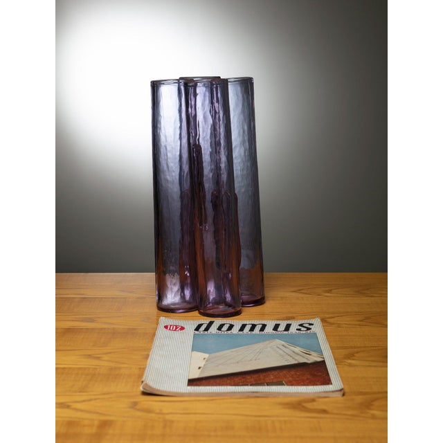 Remarkable Barbini vase composed by 4 pipes joined together.